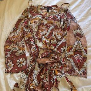 BCBG dress with matching lightweight tunic